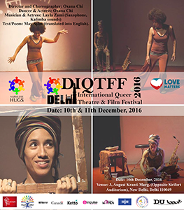 Flyer Queer Theatre Film Festival Delhi 2016